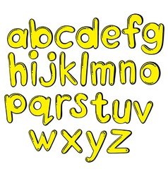 Letters of the alphabet in yellow colors vector