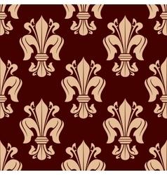 Medieval victorian seamless fleur-de-lis pattern vector