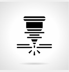 Metal working laser glyph style icon vector
