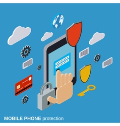 Mobile phone protection computer security vector