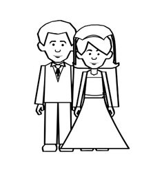 Newlywed couple icon image vector