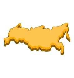 Russia map icon cartoon style vector image