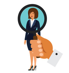 search for businesswoman concept cartoon flat vector image vector image