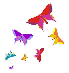 Spring Origami butterfly vector image