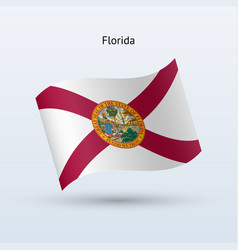 state of florida flag waving form vector image