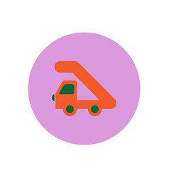 Stylish icon in color circle plane stair vector