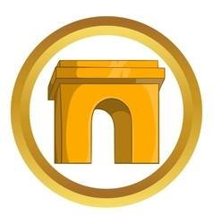 Triumphal arch paris icon vector