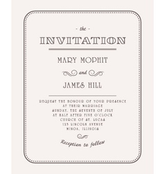 Vintage Invitation vector image