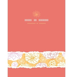 Warm day flowers vertical decor torn seamless vector image vector image