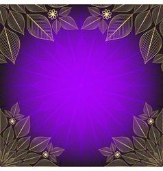 Violet vintage frame vector image