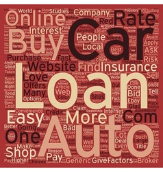 Online car loans text background wordcloud concept vector