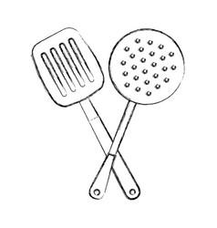 Kitchen spatula tool icon vector