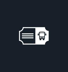 Bus ticket icon simple vector