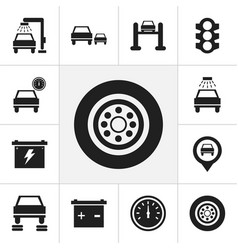 set of 12 editable transport icons includes vector image