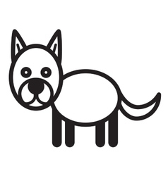 Cute animal dog - vector