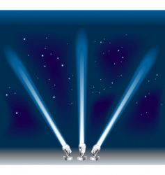 searchlights vector image