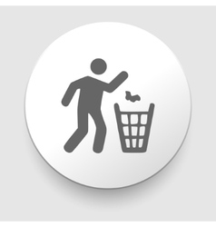 Man and recycled bin vector