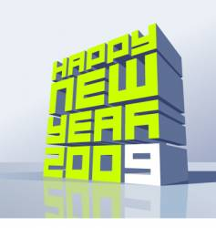 New year 2009 vector