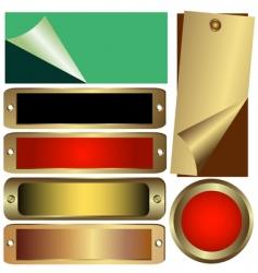 set metalic counters vector image