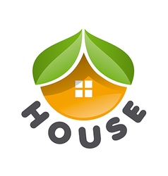 Logo house in the form of an orange vector