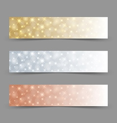 Glittering banners vector