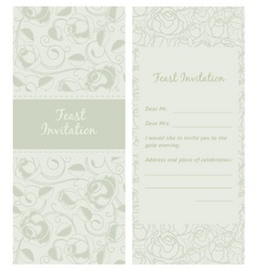 Feastinvitation backdrop vector