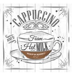 Poster cappuccino vector