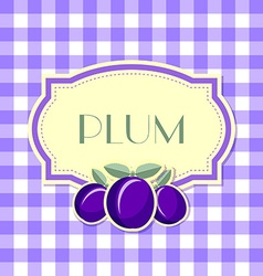 Plum label vector