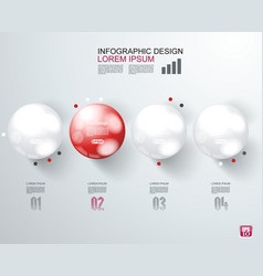 Abstract infographics with options template vector