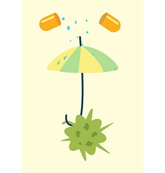 Antibiotics resistance umbrella concept vector