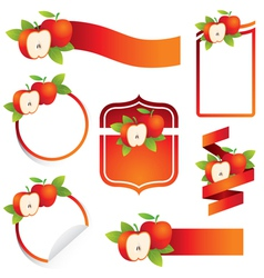 Apple Label Set vector image