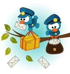 Bird postman vector