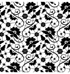 black lace with flower vector image vector image