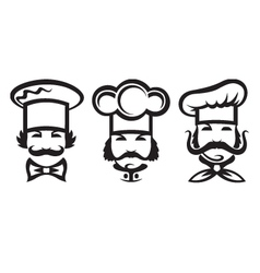 chefs set vector image