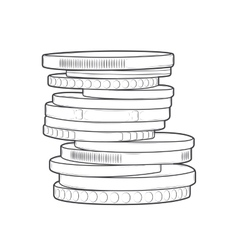 Coins stacks vector