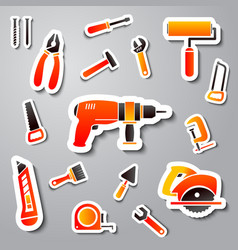 Collection of tool stickers vector image vector image
