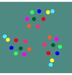 colored balls on a green background-01 vector image vector image
