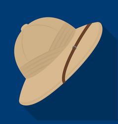 Cork hat from the sunafrican safari single icon vector