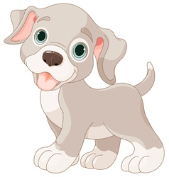 Cute puppy vector