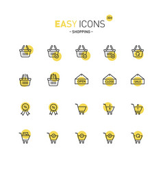 Easy icons 32d shopping vector