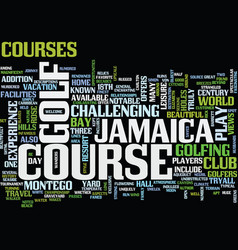 Enjoy great golf in jamaica text background word vector