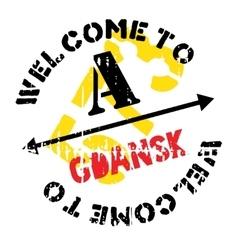 Gdansk stamp rubber grunge vector
