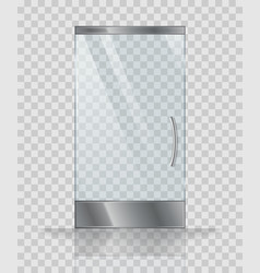 glass door of modern building or shop vector image