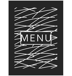 Menu design Ready menu design Monogram style vector image