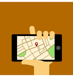 Mobile map vector
