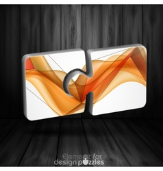 Modern Puzzle Template vector image vector image