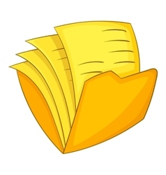 Office folder icon cartoon style vector image