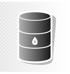 Oil barrel sign new year blackish icon on vector