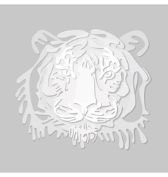 Paper-cut portret of tiger vector