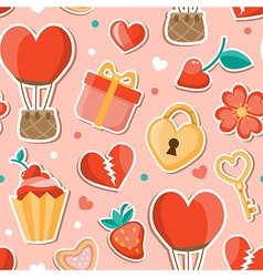 Pink romantic seamless pattern vector image vector image